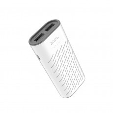 Power Bank Hoco B31C Sharp 5200 mAh Fast Charging with 2 USB Ports and LED Display White