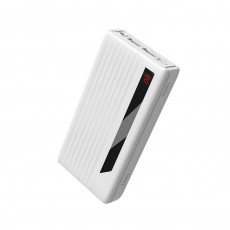 Power Bank Hoco J27A Wide energy 20000 mAh with USB-C / Micro-USB and 2 USB Ports White with Flashlight operation