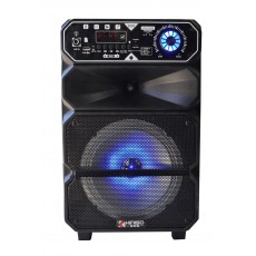 Portable Speaker Trolley QS-803 DC5V Black with Micro SD, Micro USB, 3.5mm Ports, Wireless connection TWS V4.1 and FM Rasio with Karaoke Microphone