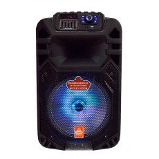 "Portable Speaker Trolley FH-B12  12"" AC100V-240V Black Power Active System, with Micro SD, 3.5mm Ports, Wireless connection and Karaoke Microphone"