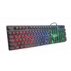 Wired Keyboard iMICE AK-800 USB with 3-Color LED Effect, 104 Keys Layout Multimedia. Black