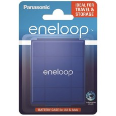 Battery Case for Panasonic eneloop for storage of up to 4 AA and AAA batteries Blue