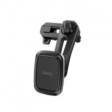 Car Mount In-Air Outlet Hoco CA57 Leader with Double Air Outlet and PU Leather Black