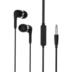 Hands Free Borofone BM39 Refined chant Stereo 3.5 mm Black with Micrphone and Operation Control Button 1.2m
