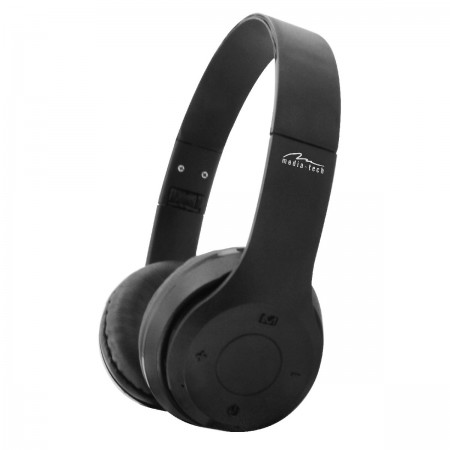 Wireless Stereo Headphone Media-Tech MT3591 EPSILION BT V.4.2 Black with Microphone, FM Radio and Micro SD /  3.5mm Slot