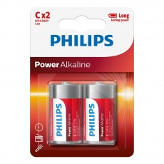 Battery Philips Power Alkaline LR14 size C 1.5 V Psc. 2
