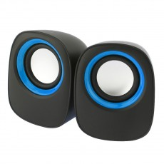 Multimedia Speaker Stereo Leerfei D-05A with 3.5mm jack and USB Charge, 5W Black-Orange