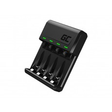 Battery Charger  Green Cell GC VitalCharger για AA/AAA Micro USB and USB-C port  0.5W/1.5V/1.2A