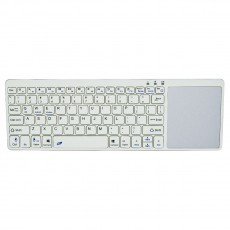 Bluetooth Keyboard Mobilis RL020 with Touchpad for Smartphone, Tablet, PC and SmartTV White