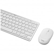 Bluetooth Keyboard Hoco DI05 V.4.0 Mini with Bluetooth Mouse of 3 Buttons 2.4G 1200 DPI White